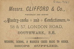 New Year card from Messrs Clifford & Co, Confectioners